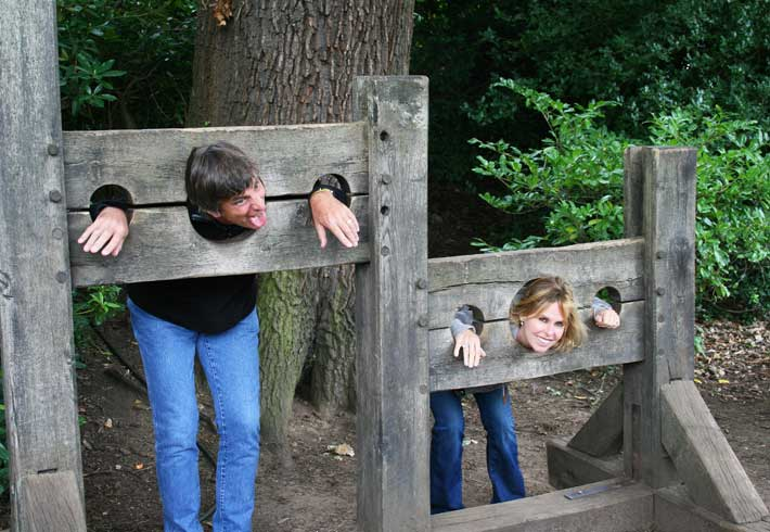 Stocks at Warwick Castle